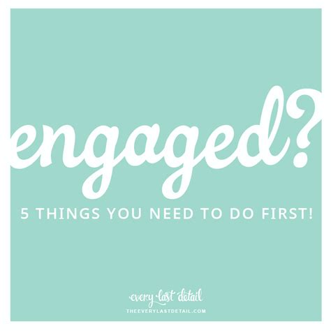 5 Bridal Tips You Need by Engaged The 5 Things You Need To Do Every Last