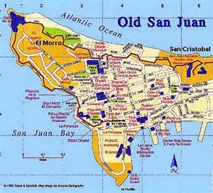 San Juan Puerto Rico Map by Old San Juan Puerto Rico Map