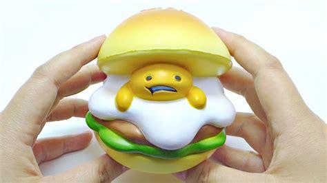 Gudetama Pink Burger Squishy rising gudetama burger squishy
