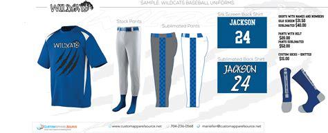 custom baseball or softball uniforms with sublimation