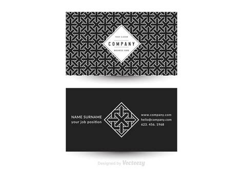 geometric patterns card template free vector geometric business card template 135996