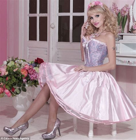 Become A Makeup Artist Online New Human Barbie Tatyana Tuzova Is Russian Singer Who Doesn T Want Ken Daily Mail Online