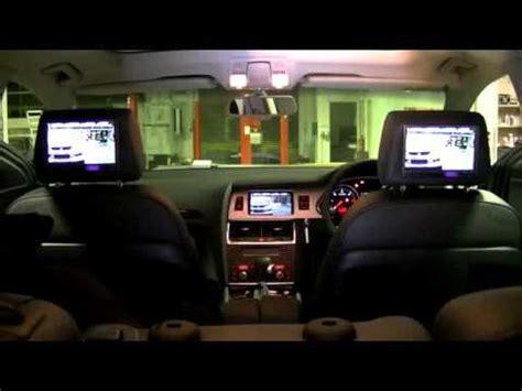 rear seat entertainment preparation audi audi q7 4l rear seat entertainment system demonstration