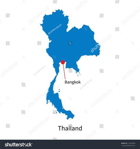 map thailand vector detailed vector map thailand capital city stock vector