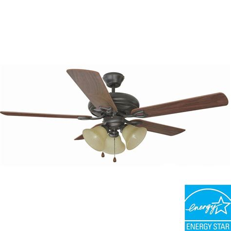 design house ceiling fans design house bristol 52 in 3 light oil rubbed bronze
