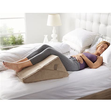 pillow reading in bed bed wedge sit up pillows at brookstone buy now