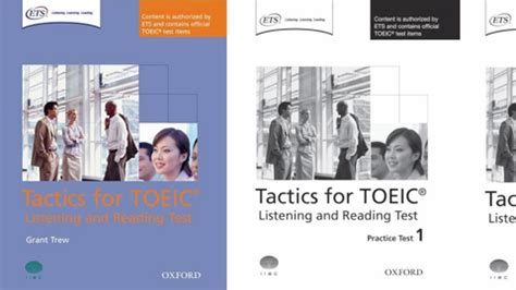 Oxford Preparation Course For Toeic Test tactics for toeic listening and reading test by grant trew on eltbooks 20