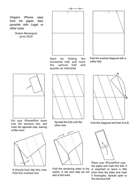How To Make A Origami Iphone - iphone origami diagrams