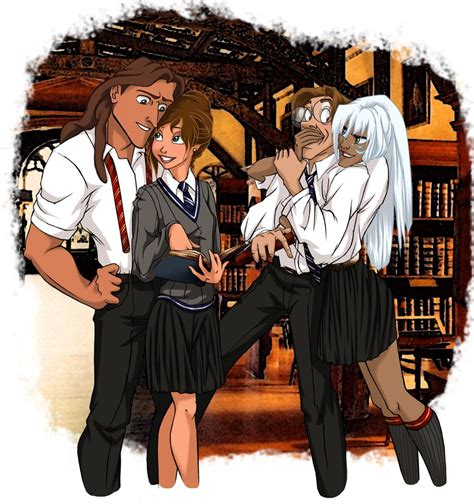 libro the art of jock 26 disney characters reimagined as hogwarts students