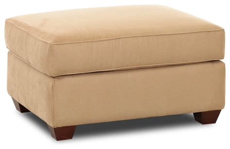 Microsuede Storage Ottoman Flagstaff Storage Ottoman Microsuede Camel Traditional Footstools And Ottomans By Savvy Home