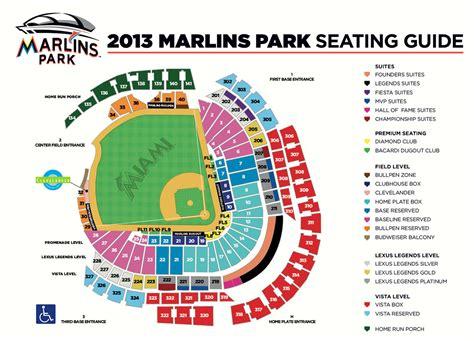 seating chart miami marlins marlins stadium seating chart marlins park miami fl