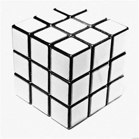 Rubik 3x3 White cube picture by mario for square format 2 photography contest pxleyes