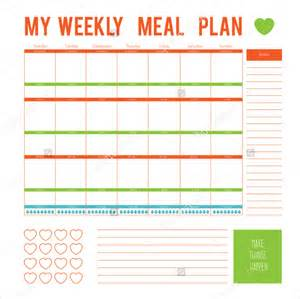 weekly menu planner template word meal plan template 15 free word pdf psd vector