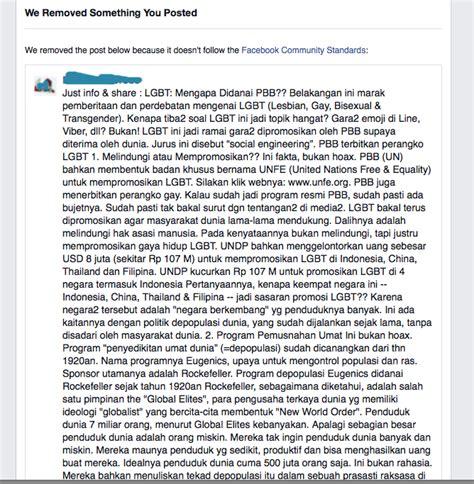 fb tere liye tak hanya tere liye facebook jurnalis voa islam soal lgbt