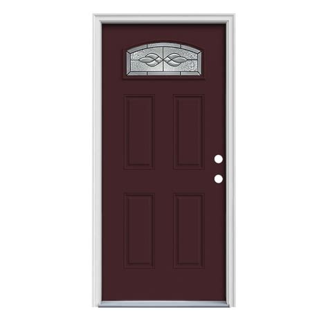 shop reliabilt craftsman morelight prehung inswing steel entry door common 36 in x 80 in