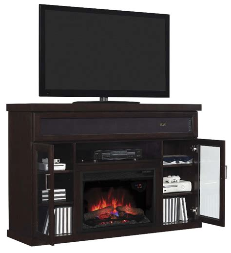 Electric Fireplace And Media Mantel by 59 Quot Tenor Espresso Media Mantel Electric Fireplace