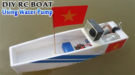 how to make a boat at home with paper how to make rc boat using water pump youtube