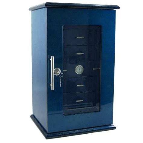 7 Drawer Humidor by Find Dolce Sogni 7 Drawer Tower Cigar Humidor In Blue
