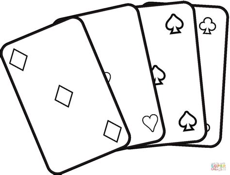 Cards Coloring Pages Playing Cards Coloring Page Free Printable Coloring Pages