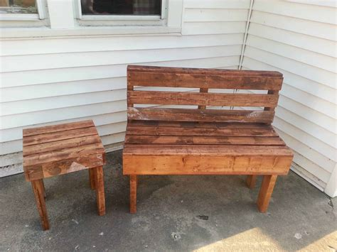 bench made from chairs pallet bench table 1001 pallets
