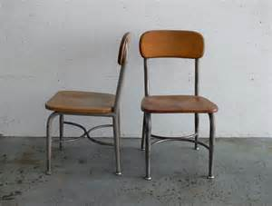 Vintage children school chairs set of 2 by comod on etsy