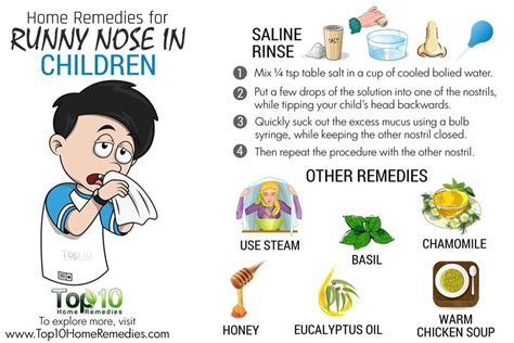 home remedies for your child s runny nose top 10 home