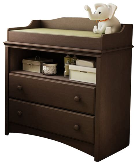 Changing Table In Espresso South Shore Changing Table Espresso Transitional Changing Tables By Cymax