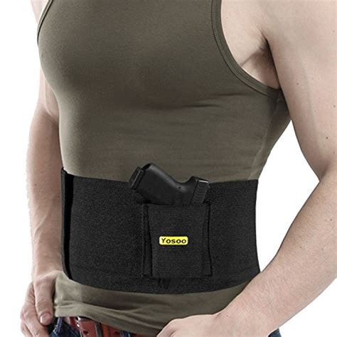 waistband holster concealed carry gun adjustable tactical elastic concealment belly band