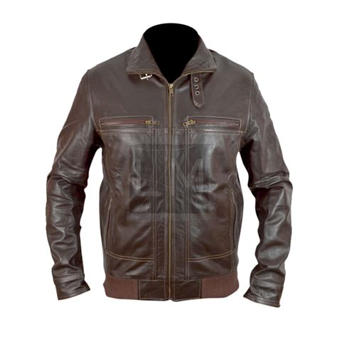 5 Jaket Gooday die 5 a day to die harder bruce willis brown genuine leather jacket leather madness
