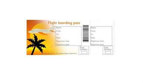 16 Real Fake Boarding Pass Templates 100 Free Template Lab Pass Template
