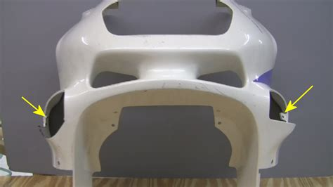 spray painting dirt bike plastics replace a missing tab on motorcycle fairing with plastifix kit
