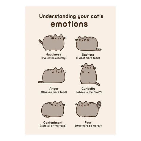 Pusheen Birthday Card Pusheen Understanding Your Cats Emotions Greeting Card