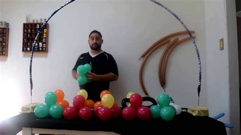 How to make a table balloon arch with no helium flower beautiful youtube