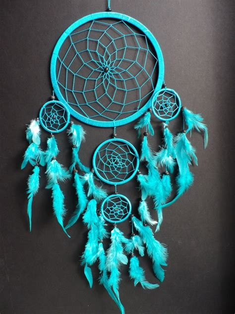 Dreamcatcher Warna Hitam 12102 large turquoise blue catcher bedroom nursery decoration new dreamcatcher ebay