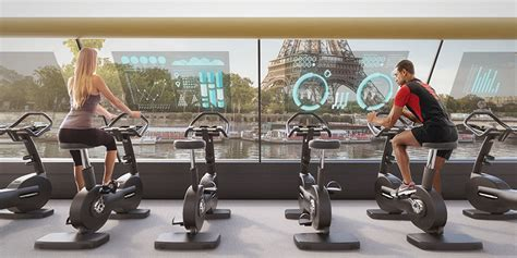 electric boat gym this floating gym in paris uses human energy to sail down