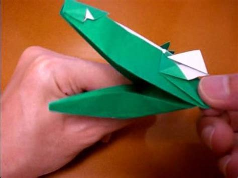 How To Make Crocodile With Paper - origami crocodile