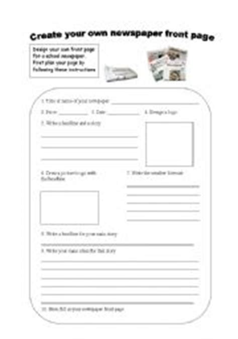 features of a newspaper by sherish teaching resources tes parts of a newspaper worksheet free worksheets library