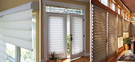magnetic blinds for french doors use luxury style to make hunter douglas vignette roman shades windows dressed up
