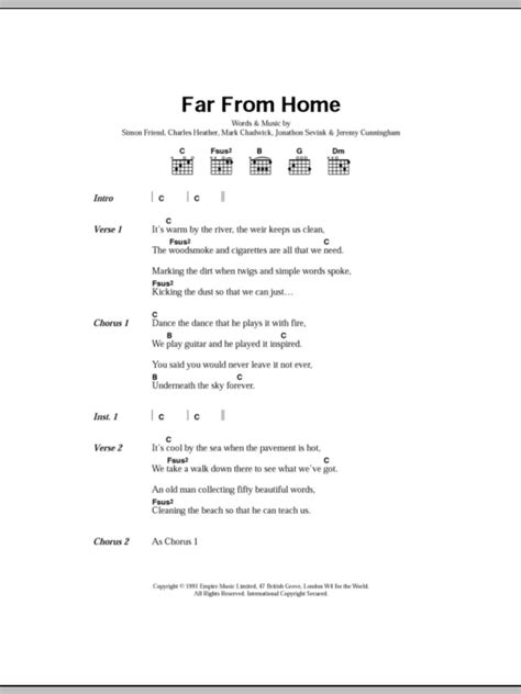 far from home by the levellers guitar chords lyrics