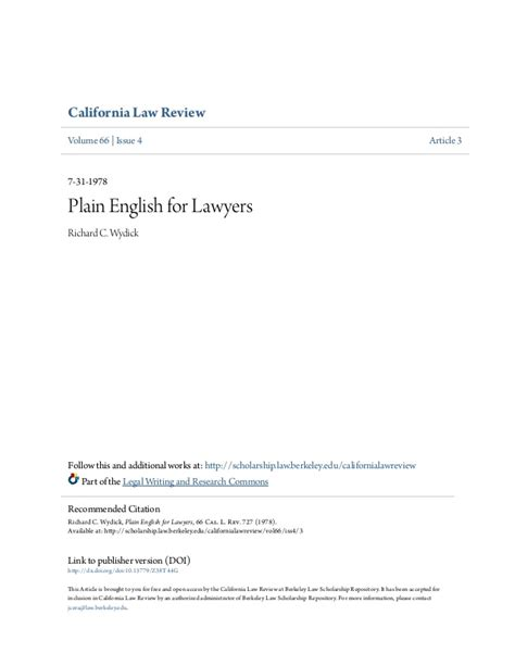 plain for lawyers