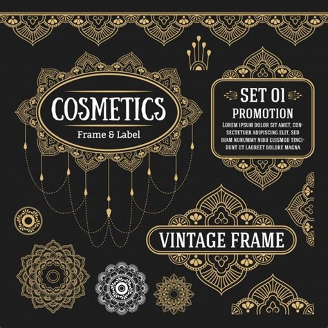 vintage frame and border vector free download