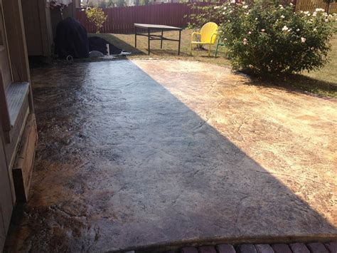 how to concrete backyard stained concrete patio backyard all home design ideas