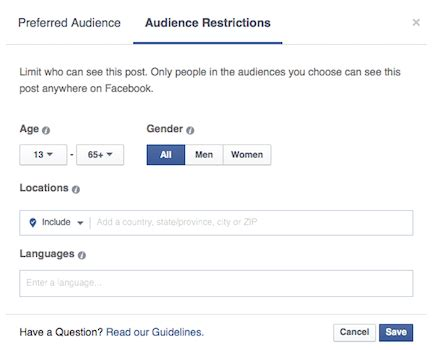 restrictions after ac section how facebook audience optimization improve organic page reach