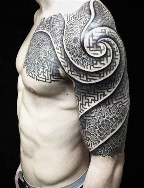 geometric viking tattoo half sleeve geometric tattoo best sleeve tattoo tattoo