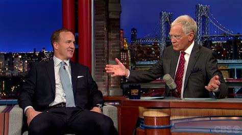 peyton manning and roger goodell peyton manning jokes on late show about insulting roger