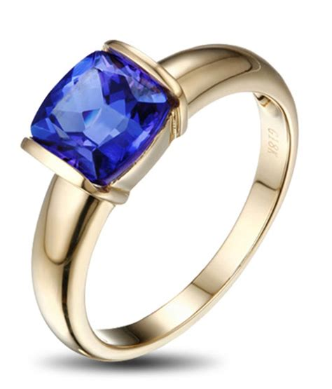 beautiful 1 carat cushion cut blue sapphire solitaire