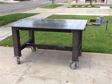 diy welding bench sweet fab table build weld welding welder table pinterest
