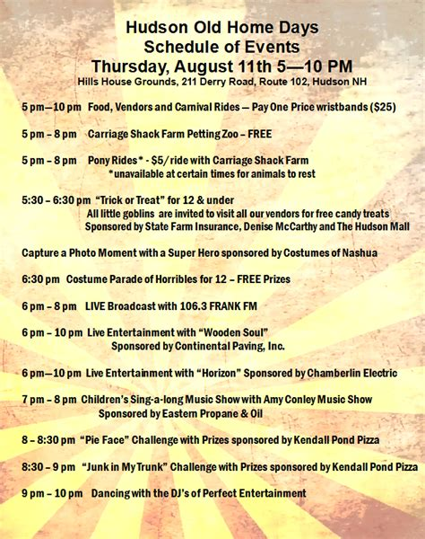 hudson nh home days tons of free events and activities