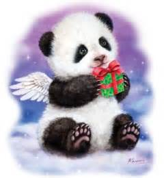panda bear gift winter christmas holiday t by