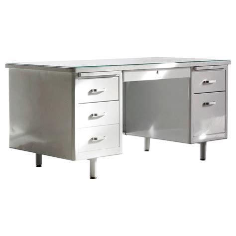 white vintage desks vintage mcdowell craig tanker desk refinished in white at